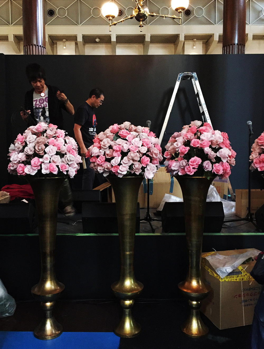 Hello Sandwich Crepe Paper Flowers for Kate Spade Tokyo Installation
