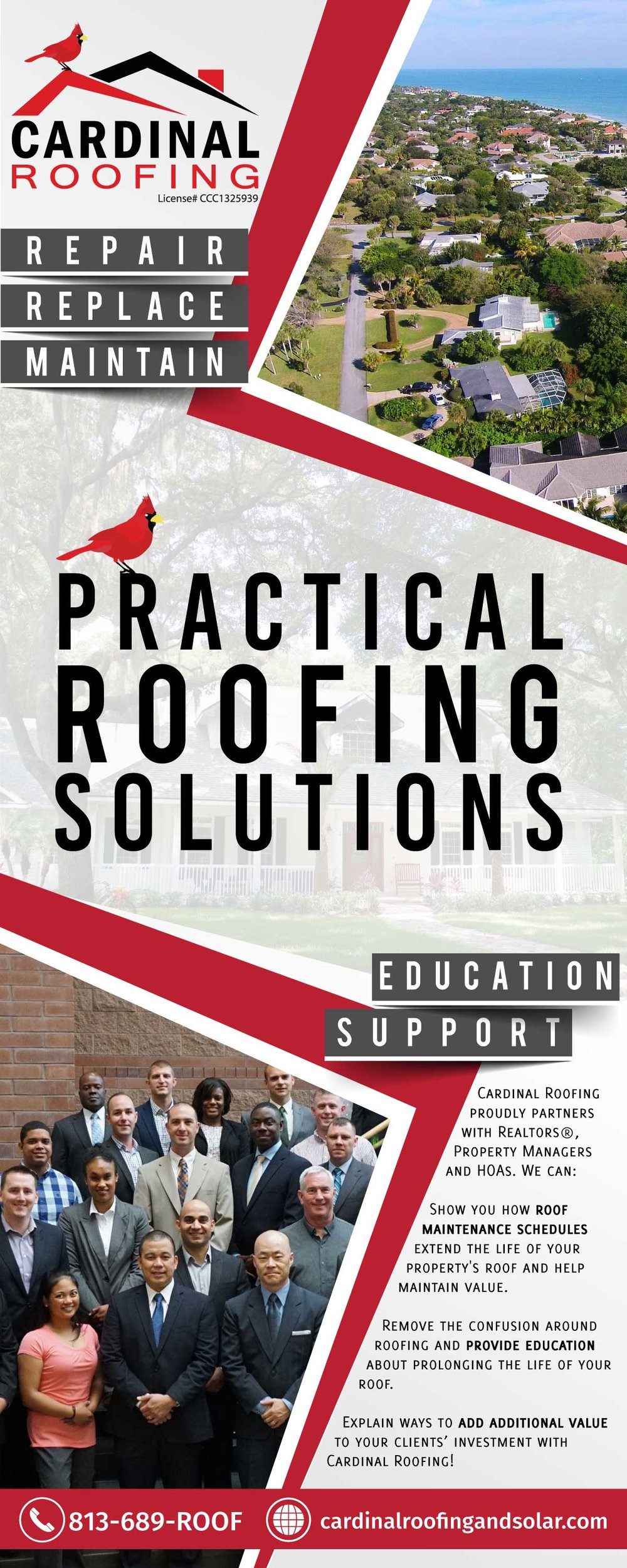 Cardinal Roofing banner
