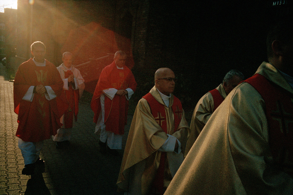 Célébration de la Sainte-Barbe le 4 décembre 2013. Église de Nikiszowiec, Katowice.