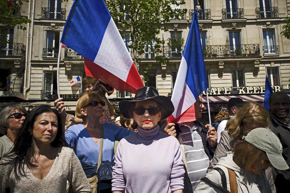 1er mai 2012, Paris, Esplanade des droits de l'homme, rassemblement de soutien à NIcolas Sarkozy.