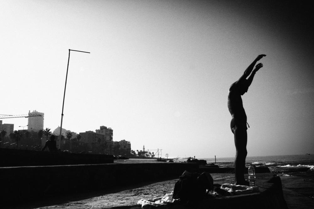 Corniche Beyrouth, décembre 2005