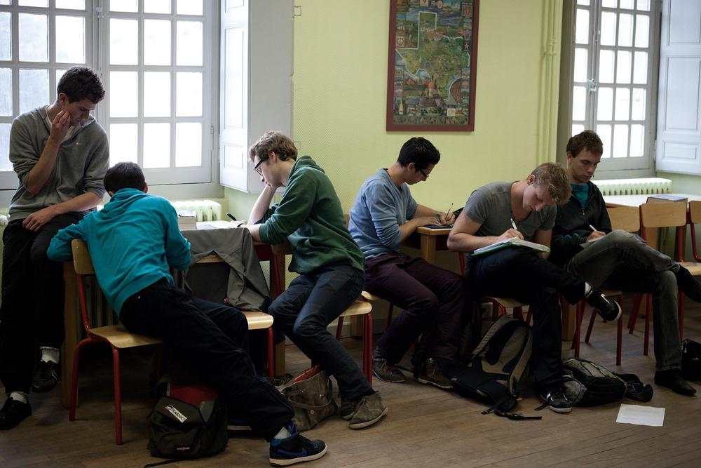 Cours d'anglais. Centre d'enseignement de Cluny, Octobre 2012.