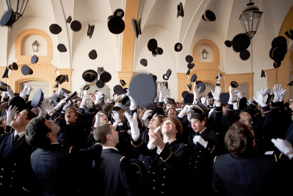 Baptême des conscrits, Centre d'enseignement de Cluny, 2011.