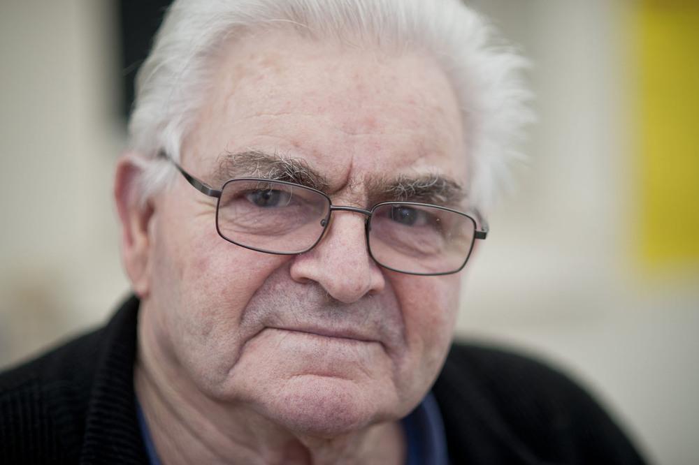 Alphonse Fresneau, 83 ans, concerné par l'arrêté d'expulsion du 25 janvier 2016. ZAD DE NOTRE DAME DES LANDES, Lieu dit LES DOMAINES Mercredi 27 janvier 2016.
