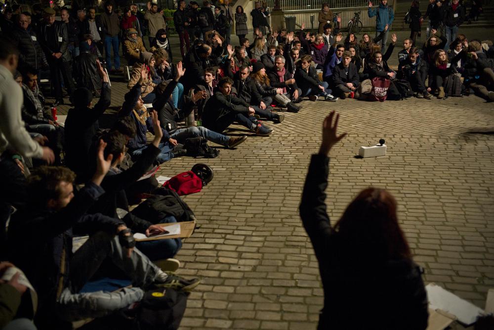 Rassemblement Nuit debout à Metz, le 16 avril 2016