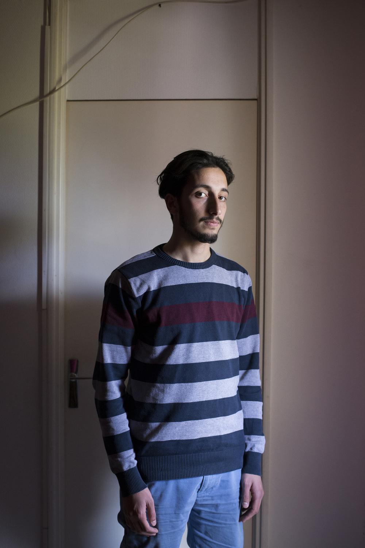 Abdalrahman 20 ans à Saint Etienne le 27 avril 2016.