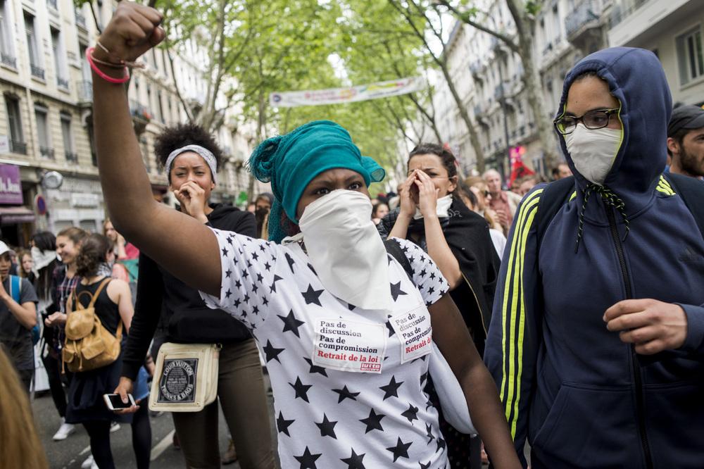 Manifestation Contre la loi ElKomri26 mai 2016Lyon