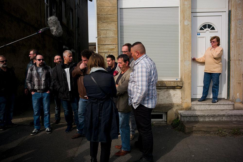 Organisations syndicales Sud et CGT du site d'Arcelor de Florange, Moselle. 13 octobre 2016