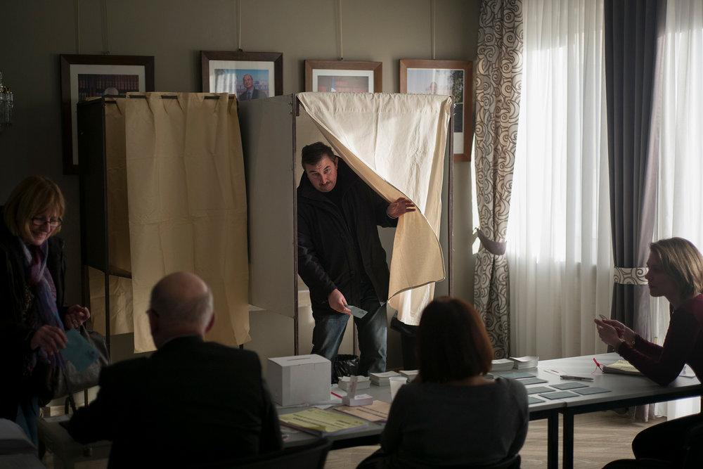 Bureau de vote de Fameck, primaire de la Gauche. Moselle, 22 janvier 2017.