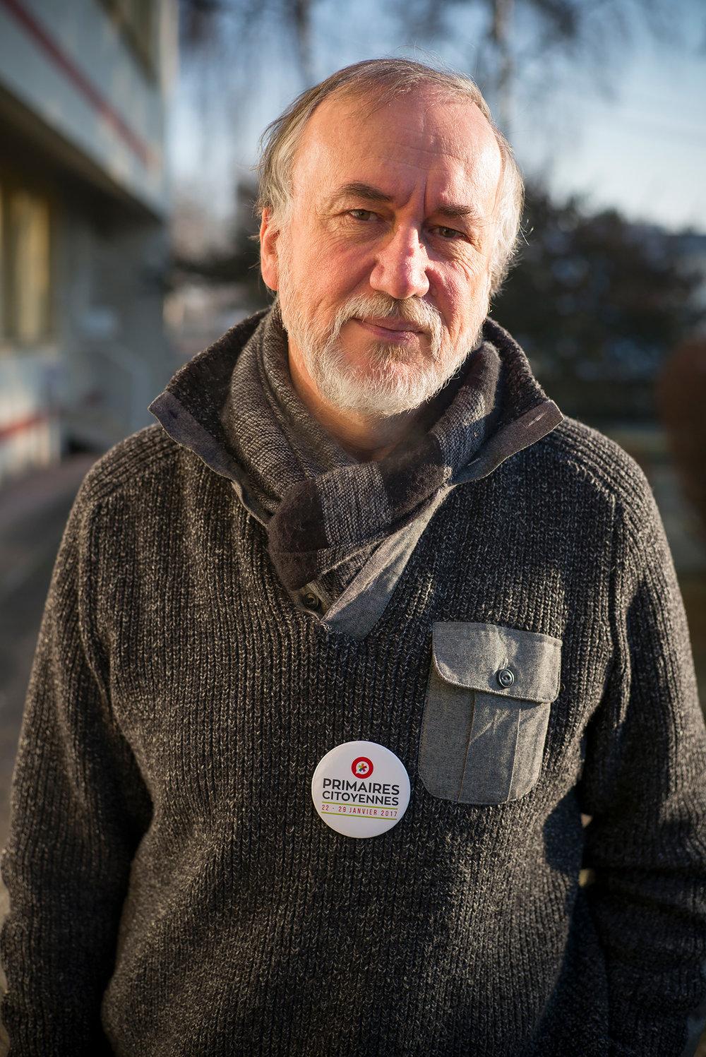 Gérard Flamme, président du bureau de vote de Florange, Moselle. 22 janvier 2017