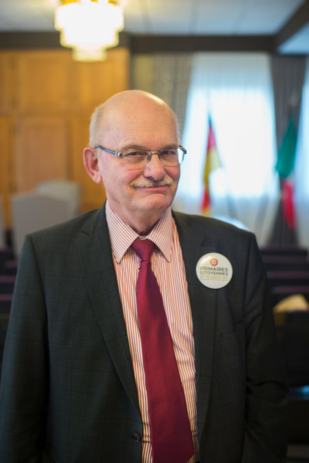 Alain Steiner, président de bureau à Fameck, Moselle. 22 janvier 2017