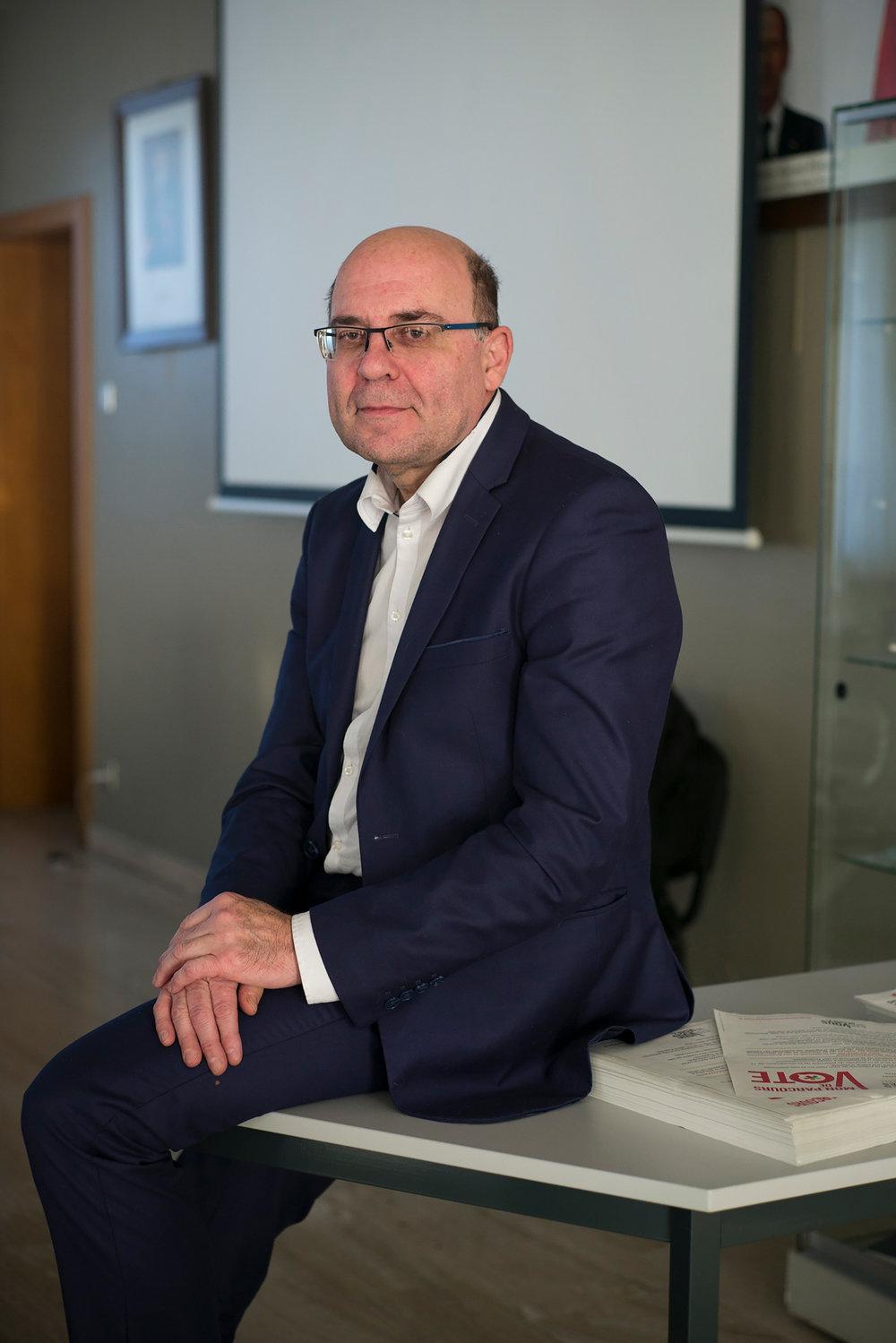 Michel Liebgott, député et maire socialiste de Fameck. Moselle, 22 janvier 2017