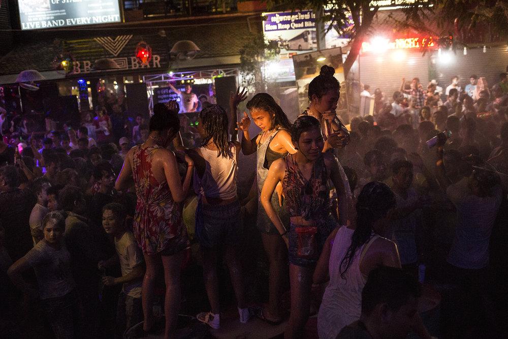 Trois jours de fêtes dans les rues de Siem Reap pour célébrer le Nouvel An Kherm. SIEM REAP, AVRIL 2016