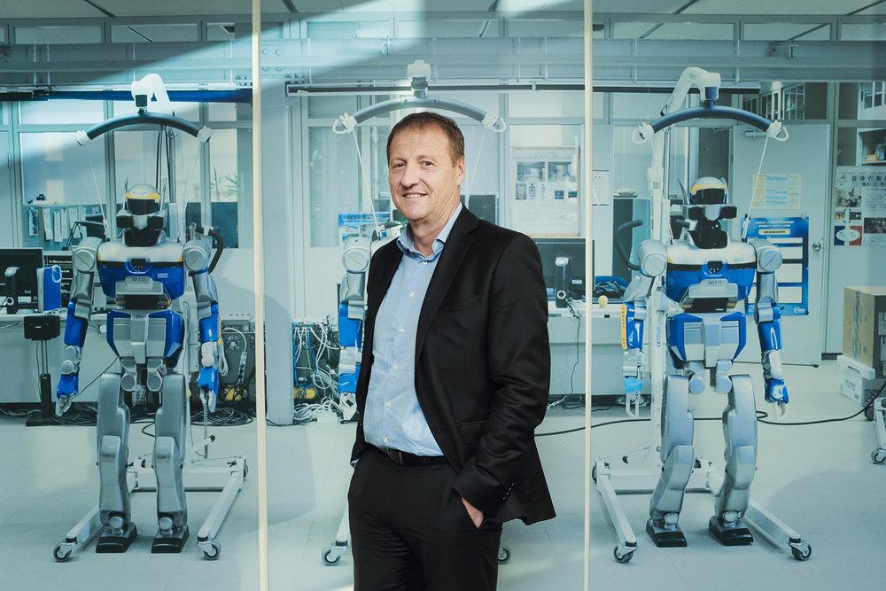 Portrait Christophe Sapet PDG Navya Villeurbanne pour Management