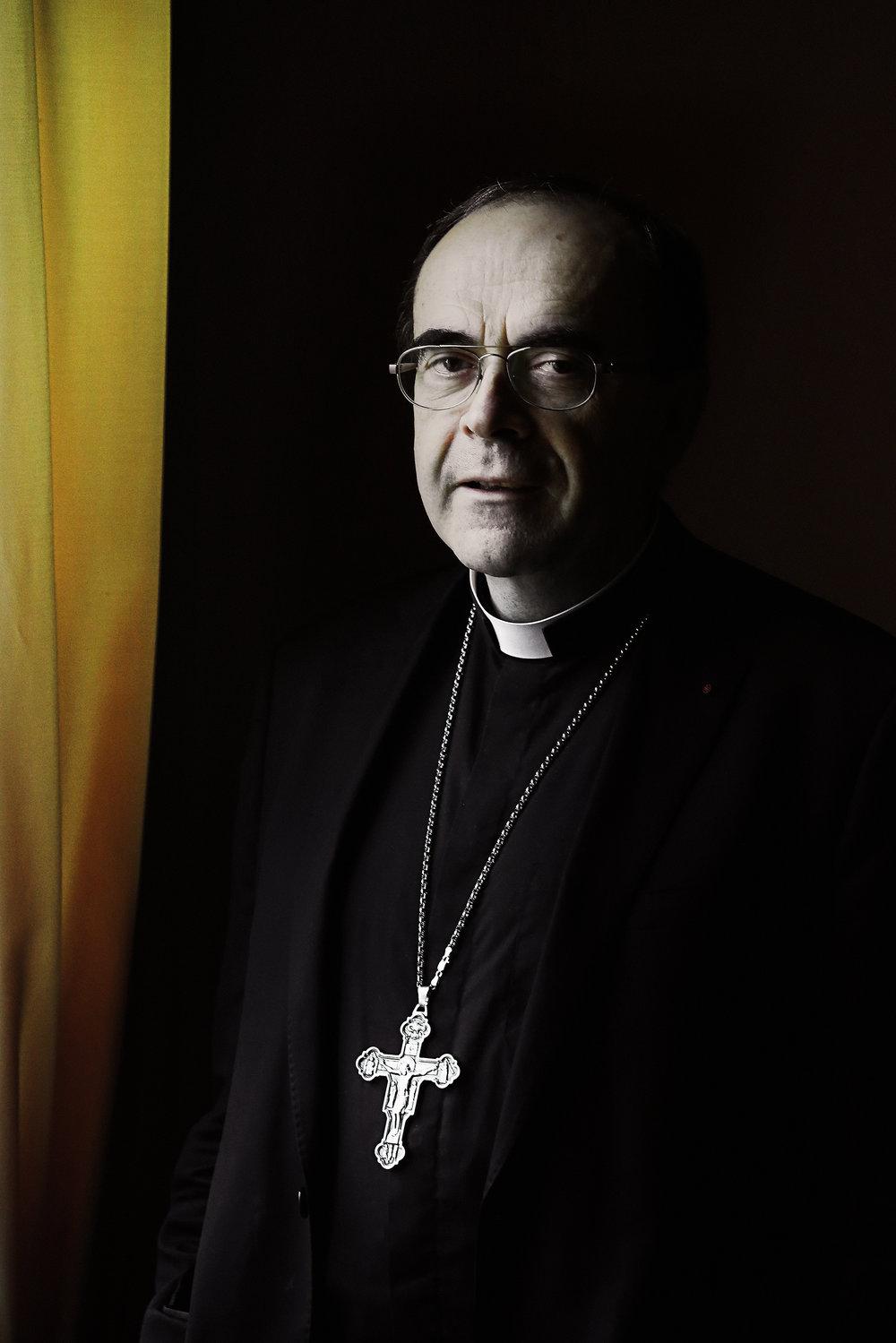 commande FIGARO portrait cardinal Barbarin Lyon