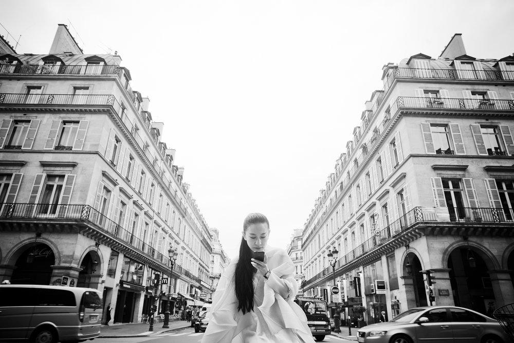 Lu Yan à Paris. Lu Yan designer in Paris