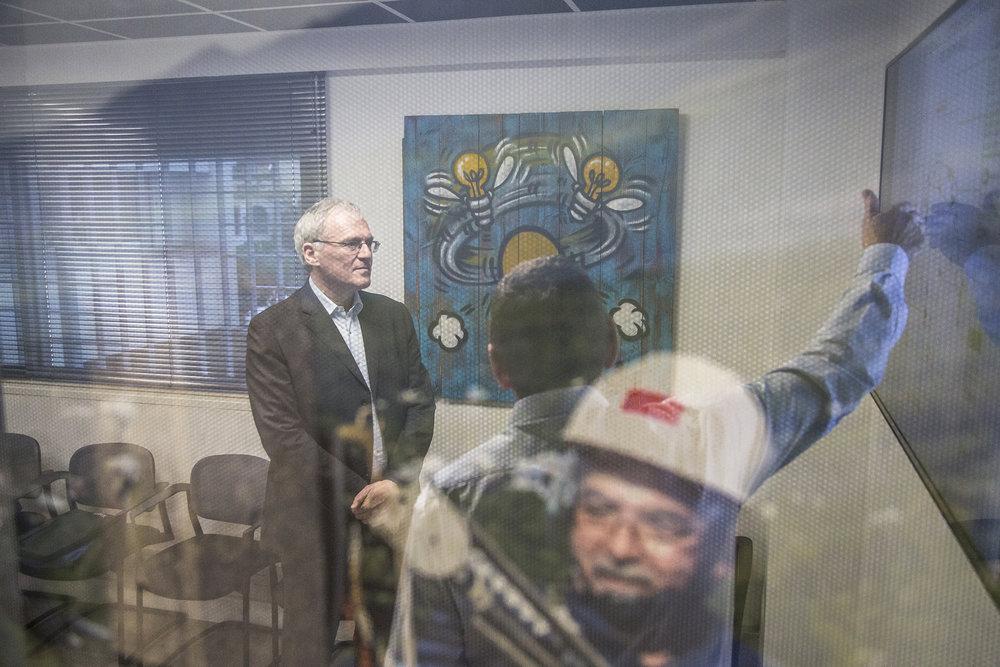 Février 2016. Visite de Jean-Bernard Levy, PDG d'EDF au siege d'EDF à Saint-Denis_Ile de La Reunion_Ocean Indien