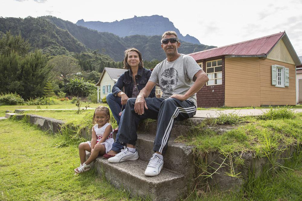 Février 2016. Visite de Jean-Bernard Levy, PDG d'EDF sur le site de La Nouvelle dans le cirque de mafate. Ile de La Reunion_Ocean Indien