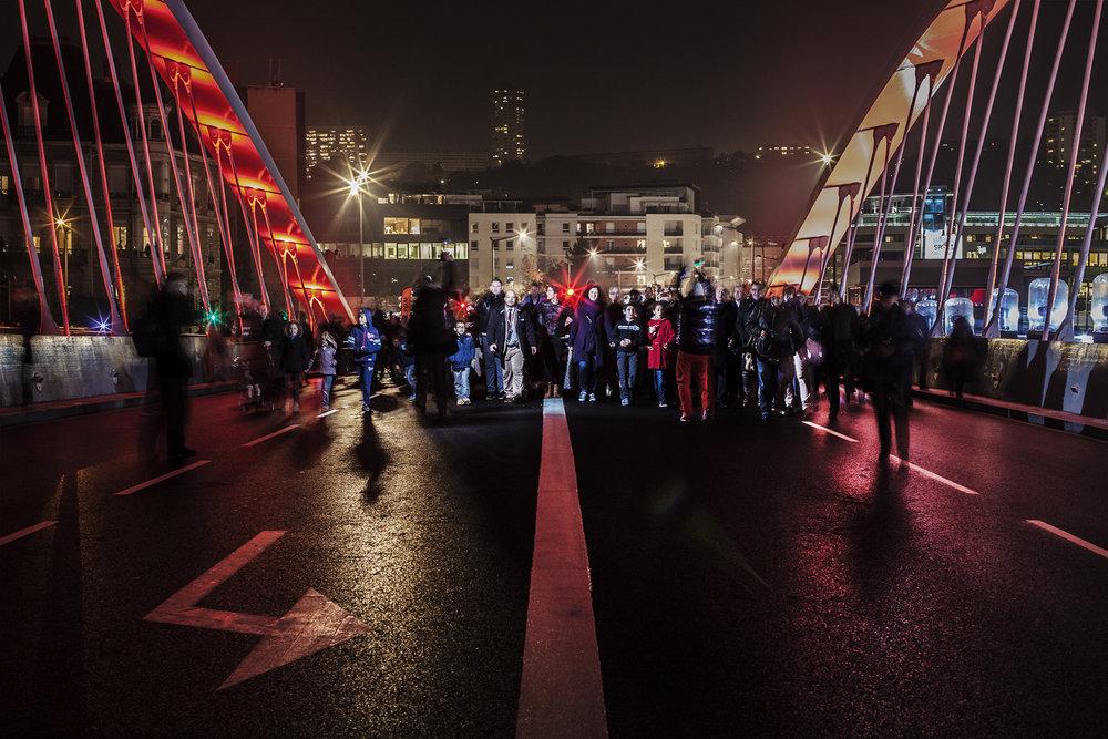 Inauguration du Pont Schuman - Lyon.