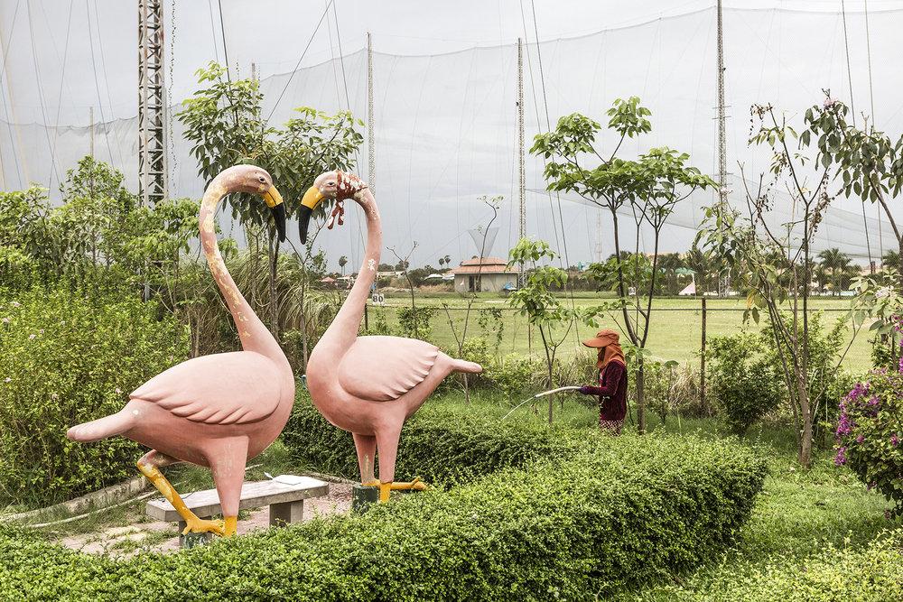 Le « Love Garden » est un jardin public avec pelouse, sentiers dallés, angelots, cupidons, flamants roses et autres animaux en plâtre. C'est un lieu très prisé par les jeunes amoureux qui viennent en toute discrétion se retrouver.