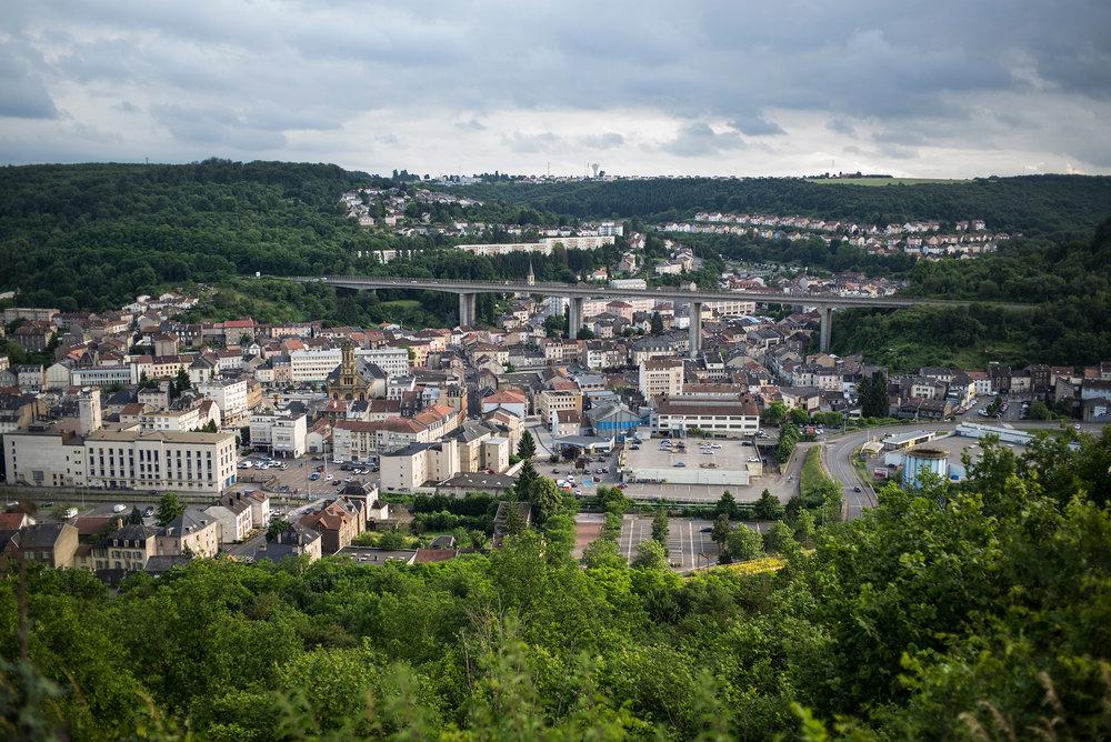Ville d'Hayange, Moselle, Juin 2016