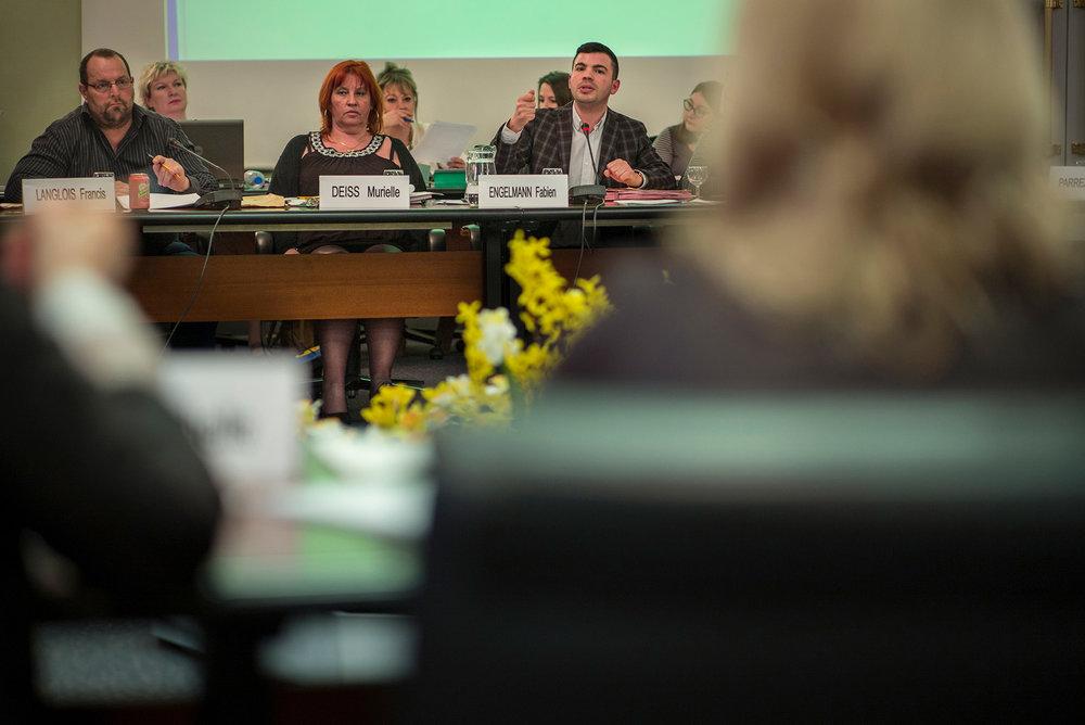 Fabien Engelmann, maire d'Hayange.Conseil municipal d'Hayange, le 13 avril 2016