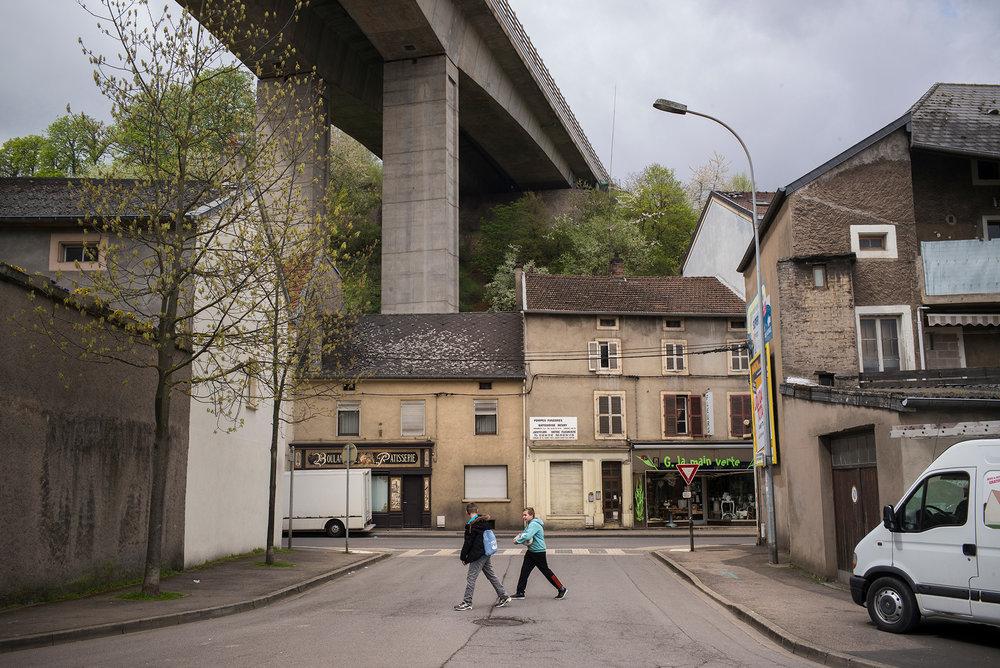 Ville d'Hayange, Moselle, Juin 2016.