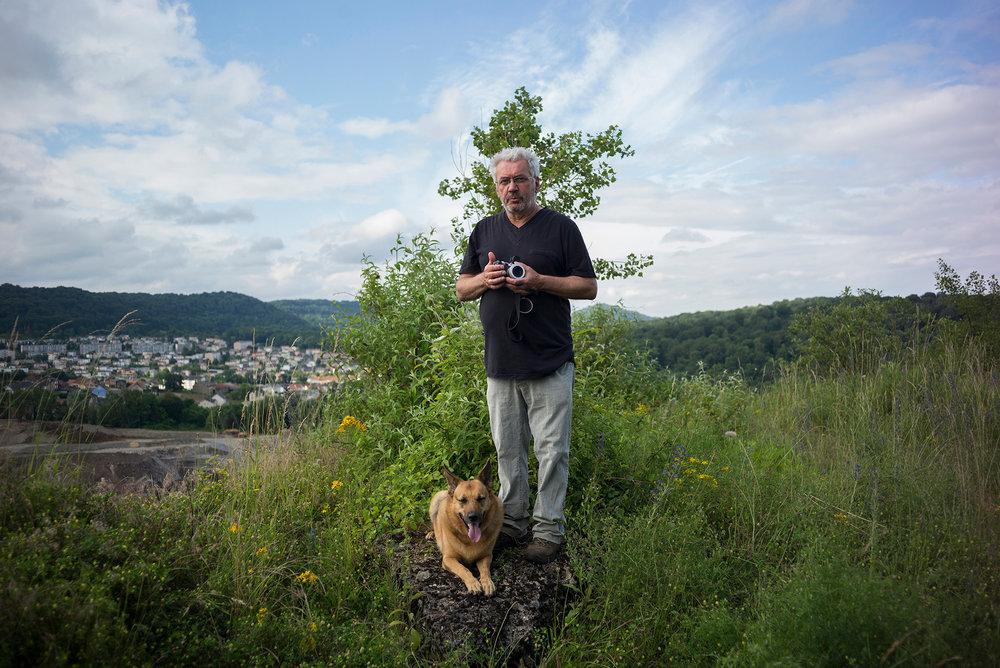 Marc Olenine, auteur du livre «Mandala sur Fensch» où il dresse un portrait politique et poétique de la ville d'Hayange sous la gouvernance du FN. 27 juin 2016