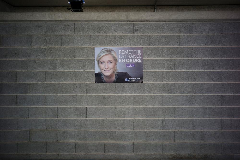 Meeting de Marine Le Pen le 18 mars 2017 à Metz.