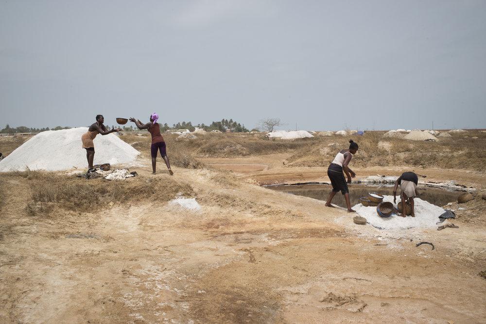 Salins de Palmarin, Delta du Siné-Saloum. Sénégal.