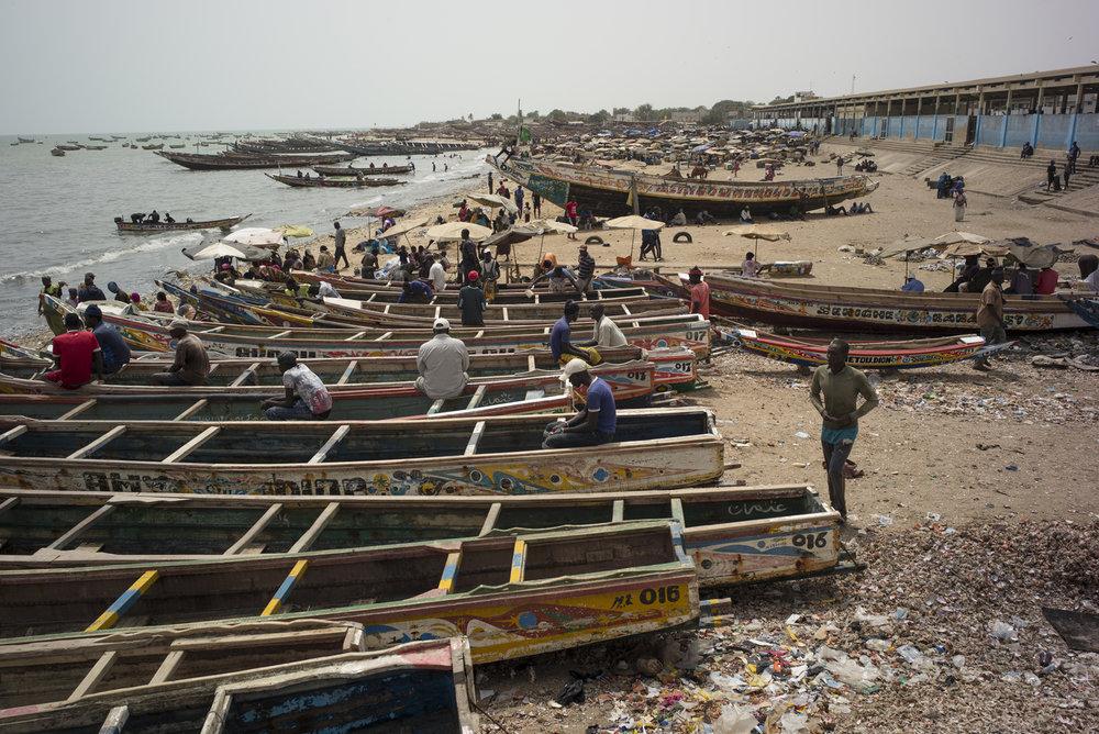 Port de pêche de Mbour, Sénégal.