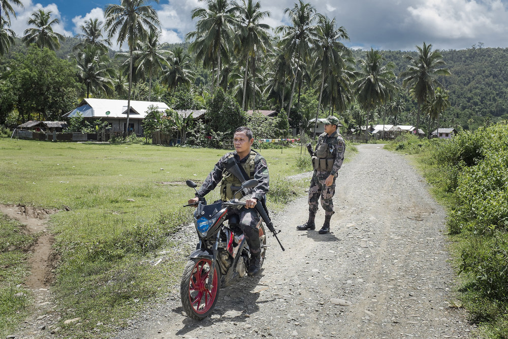 Soldiers of the Philippino army in Cabangahan Village, Surigao del Norte. Mindanao, Philippines, 04.2016