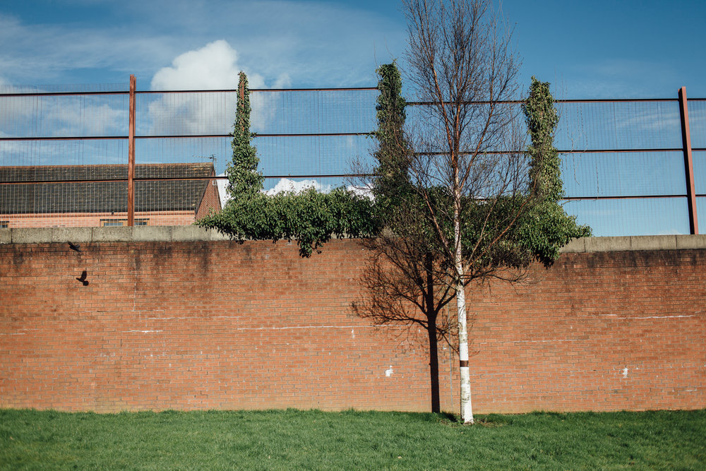 Belfast, le 1er Mars 2017. L'un des murs de séparation entre quartiers protestants et catholiques.