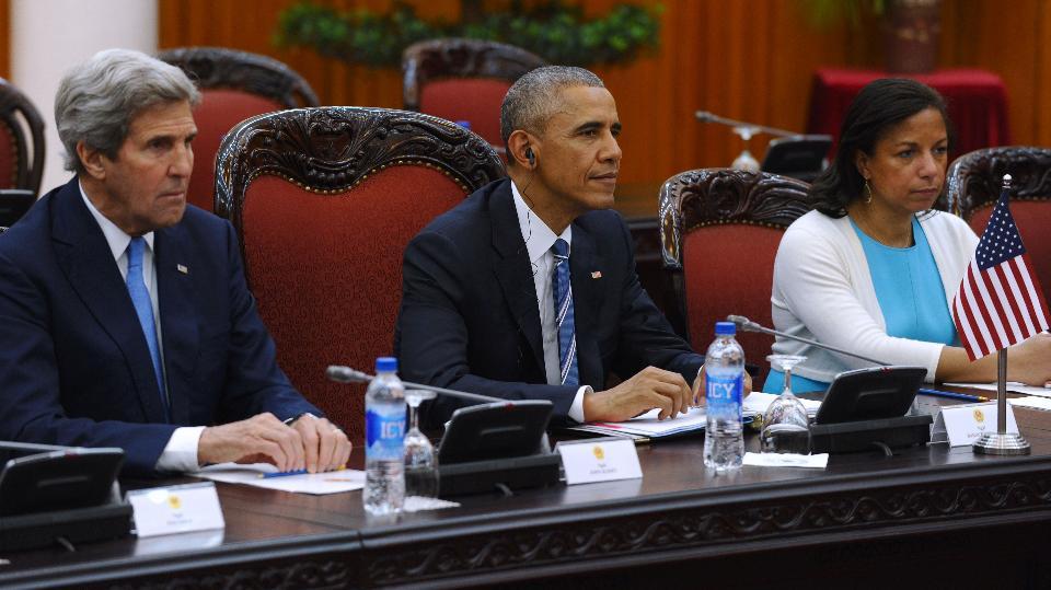 US President Barack Obama . / AFP / POOL / HOANG DINH NAM