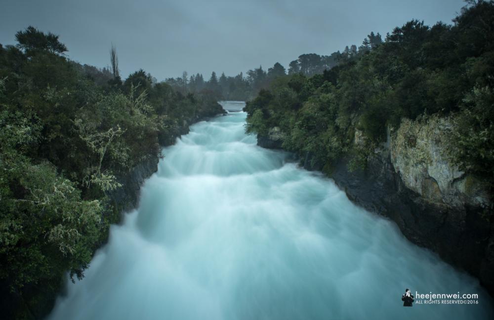 Midway from Rotorua to Tongariro National Park - Huka Falls.