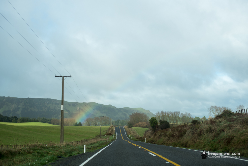 Rainbow is definitely on our tail at the North Island.