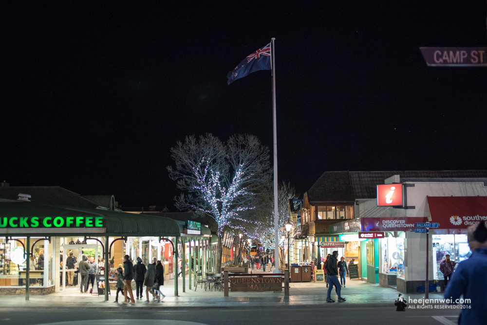 The Central street of Queenstown.