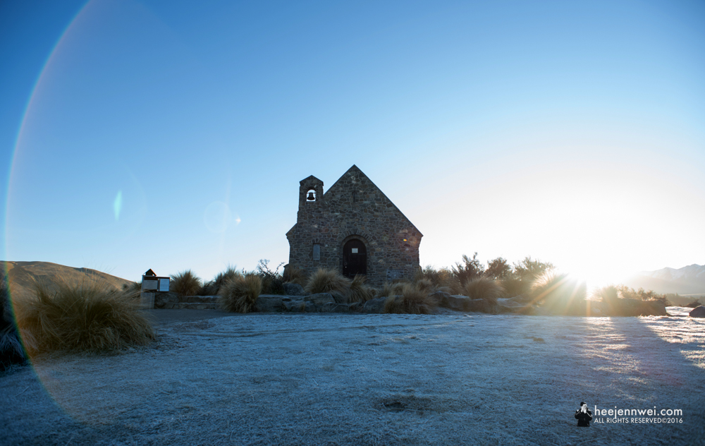The Church of Good  Shepherd.  Sunrise.