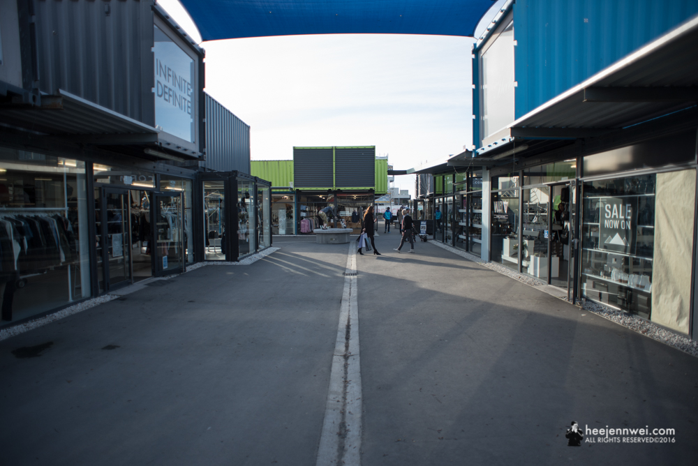 Re:START Mall is an outdoor retail space with temporary buildings made from shipping containers. Opened in Oct 2011, rebuilding the strength of Kiwis after the severe quake.