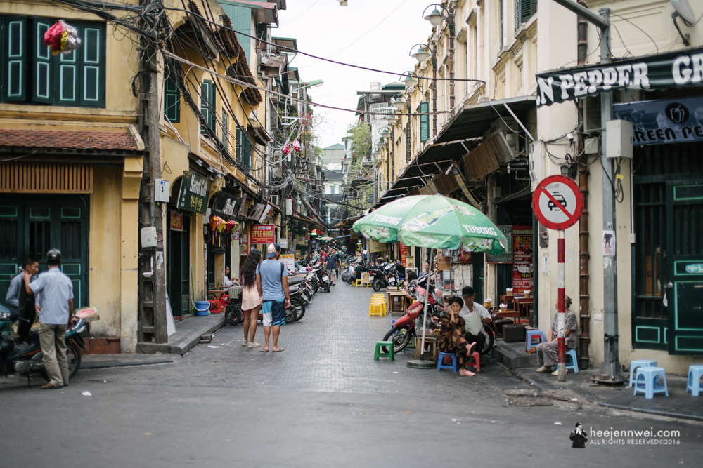 The Hanoi Old Quarter.