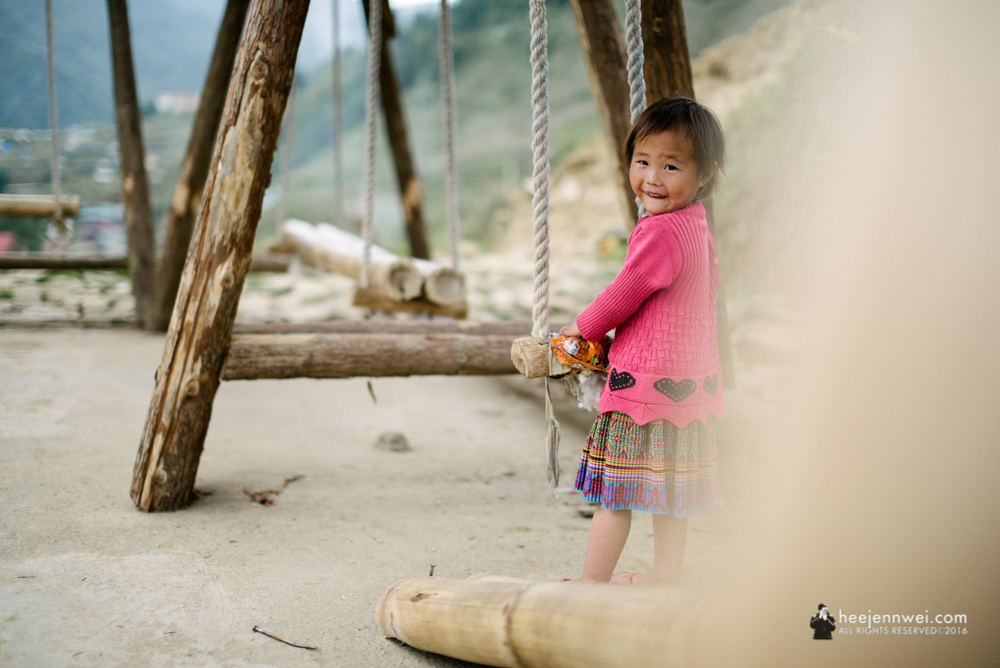 Little girl from H'mong hill tribe.