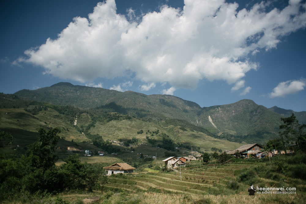Arrived at the Ta Van Village, at 1,000 meter altitude and home to for H'mong, Zao, Giay minority hill tribes who have been working on the sloping land and living their own way of life for hundred of years.