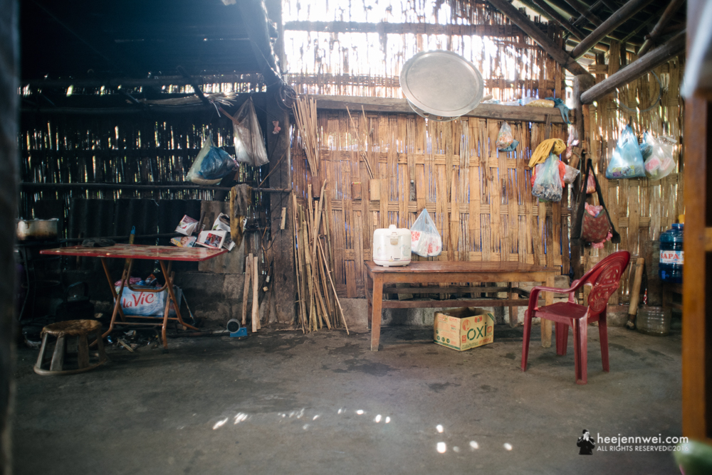 Inside the Kitchen of Giay hill tribe's homestay.