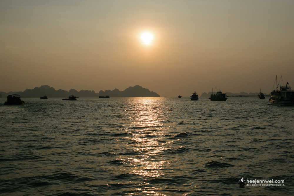 We left Halong Bay at the nick of setting sun, continuing the gruelling 4 hours bus journey back to Hanoi town.