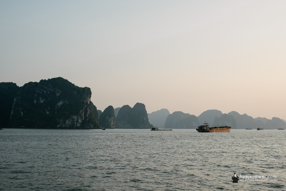 Sunset at Halong Bay.
