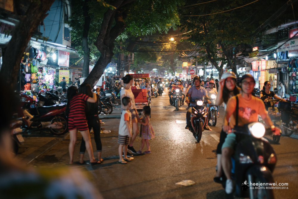 Exploring the night of Hanoi Old Quarter.