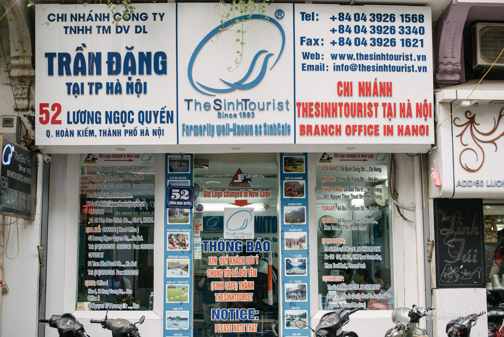 """Now here's the genuine """"The SinhTourist"""" of Hanoi, no workers lobbying outside their shop and professionally manage your inquiries with reasonable fare."""