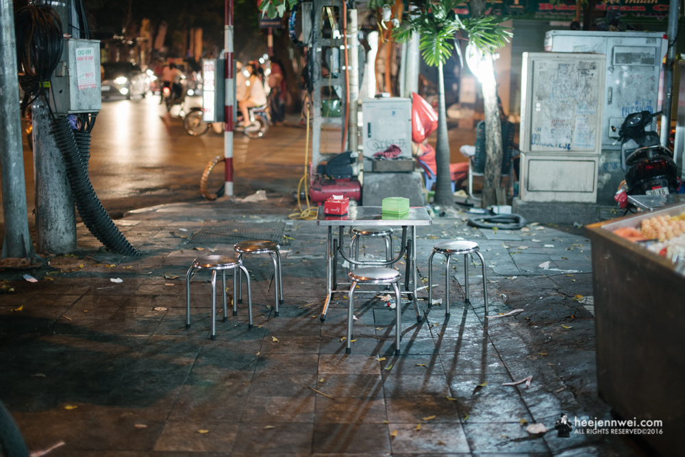 Tucked in the corner of Hanoi Old Quarter, stool table the Vietnamese style!