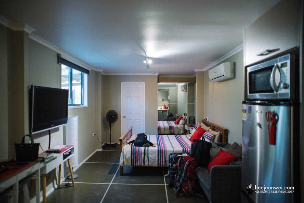 Interior of Beachfront Self Contained Studio at McEwens Beach, Mackay.