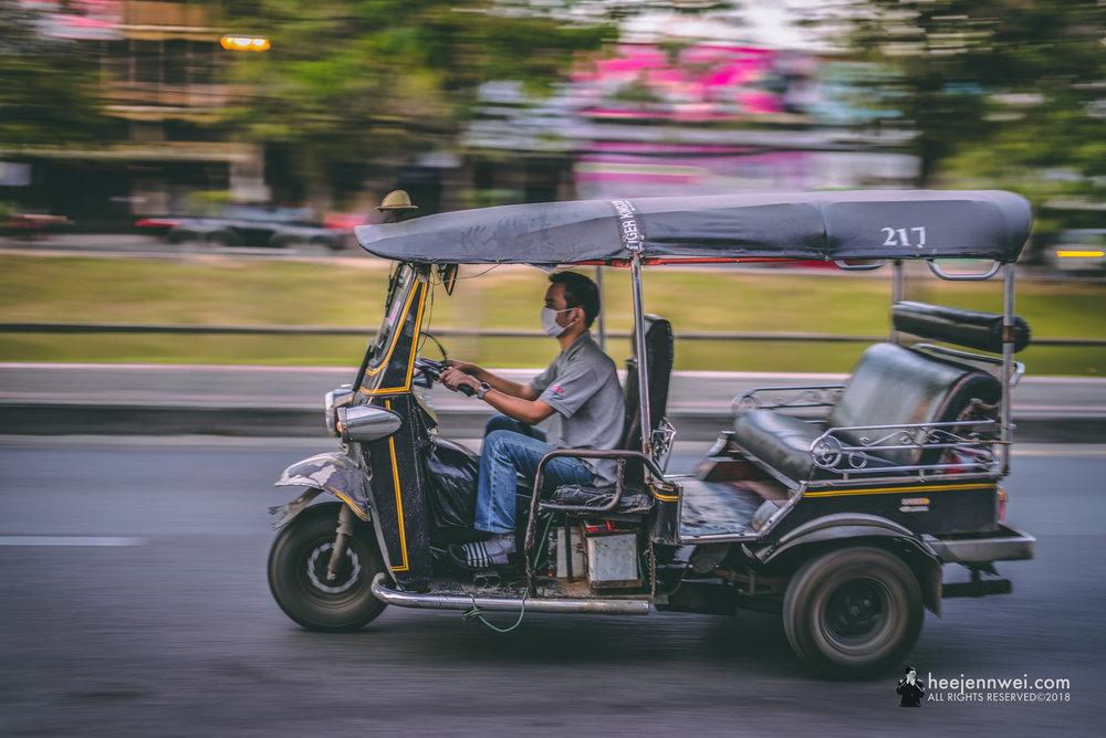 Tuk-tuk in Chiang Mai.